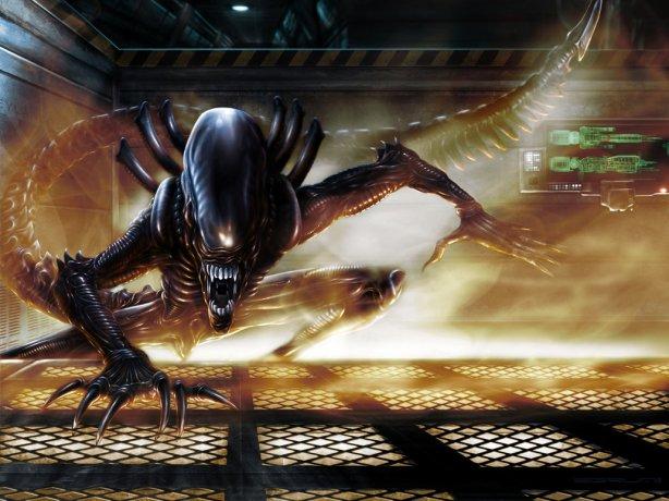 Alien fanart by deviantART member Sgrum.